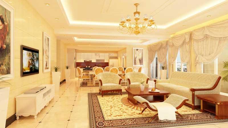 phòng khách căn hộ Lancaster Legacy