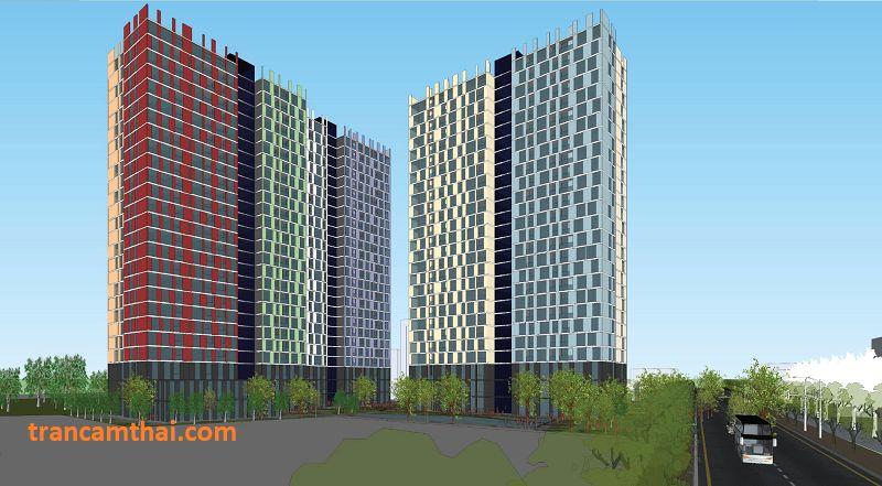Phối cảnh 3D của dự án chung cư The Elysium Quận 7
