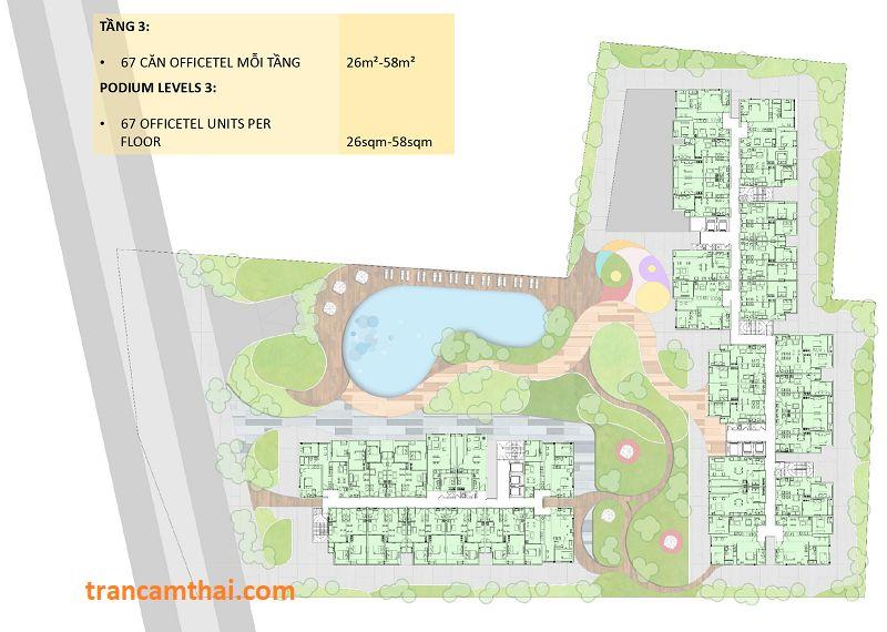 Khối đế tầng 3 dự án The Elysium Quận 7