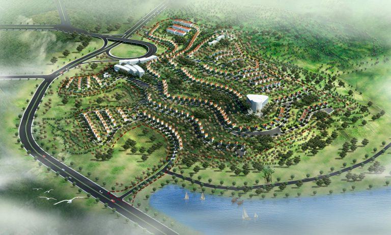 Phối cảnh khu biệt thự đồi thủy sản Bãi Cháy Quảng Ninh