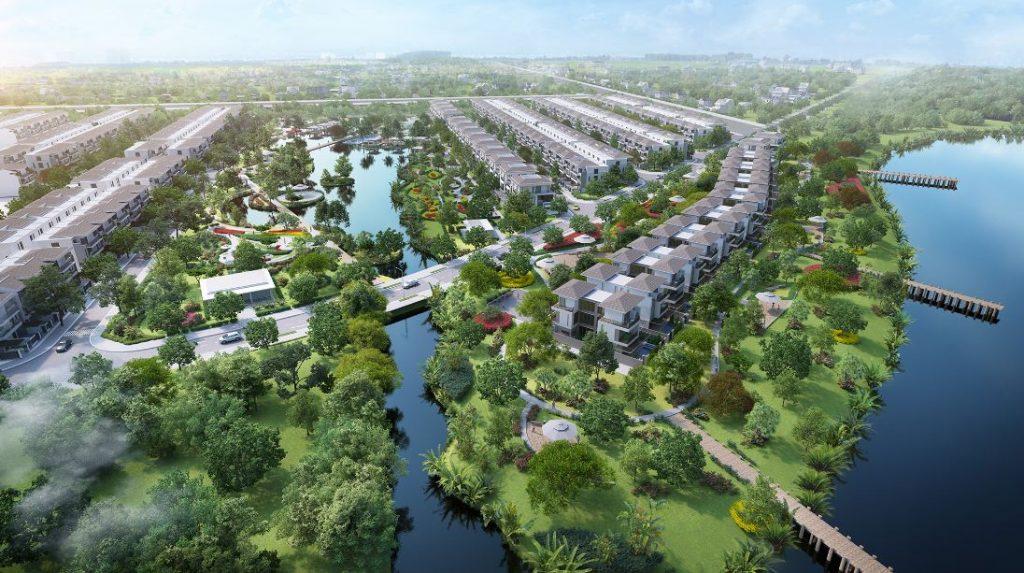 Toàn bộ khung cảnh của dự án khu đô thị hàng sang Lavilla green city Long An