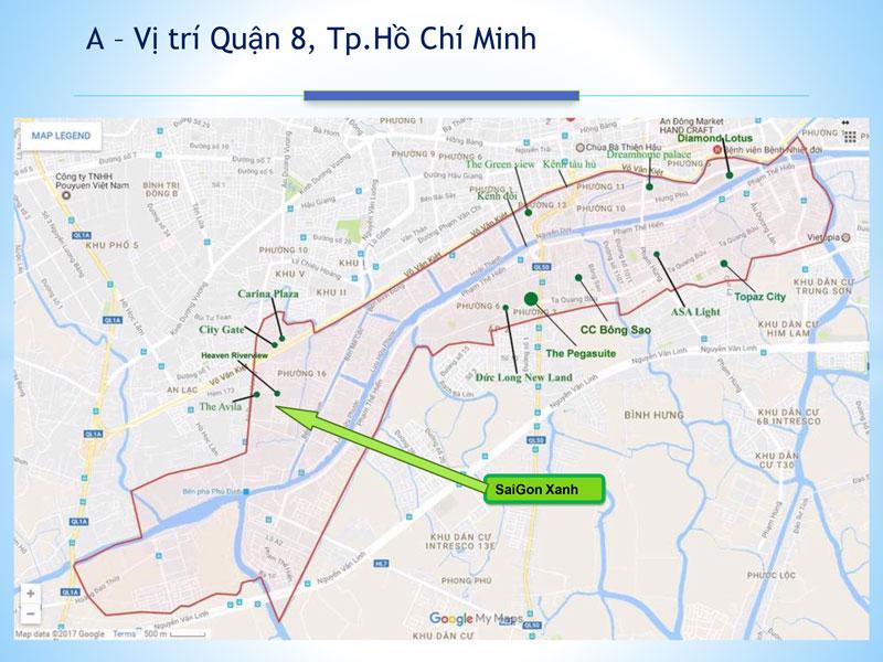Vị trí dự án Saigon Xanh Quận 8