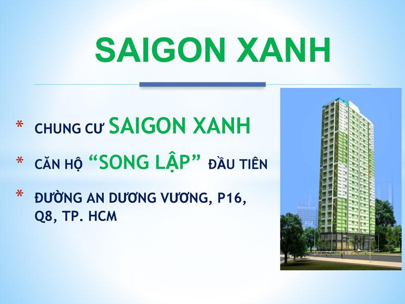 Căn hộ Saigon Xanh - Điểm sáng thị trường BĐS phía Tây