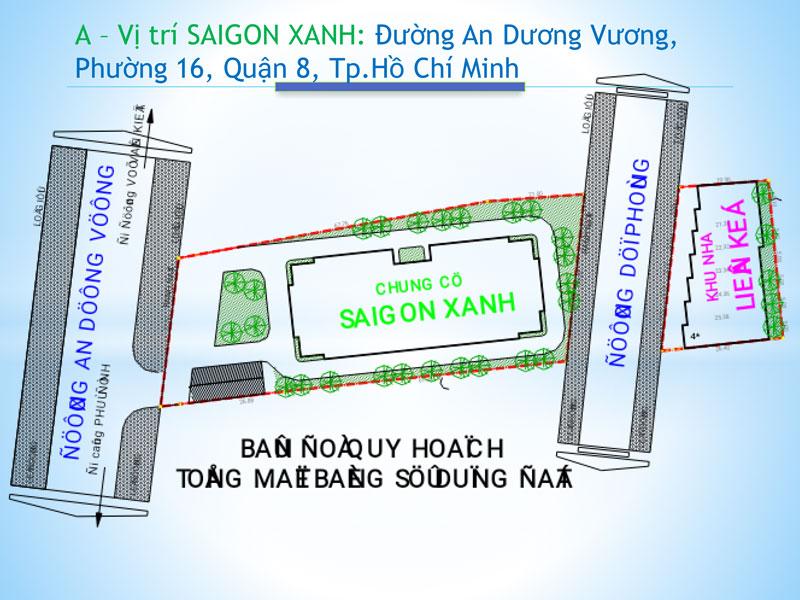 Mặt bằng quy hoạch chung cư Saigon Xanh