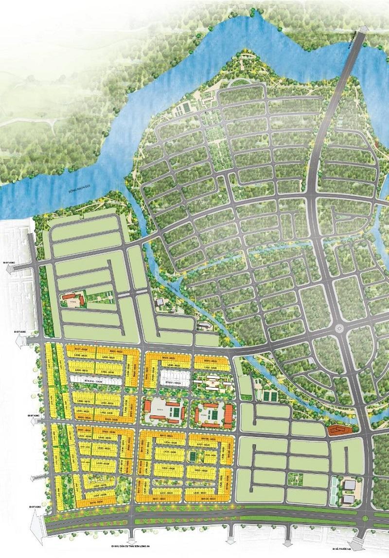 Sơ đồ phân lô dự án T&T Millennia City (T& T Long Hậu)