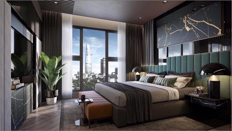 Phòng ngủ căn hộ mẫu The Grand Manhattan