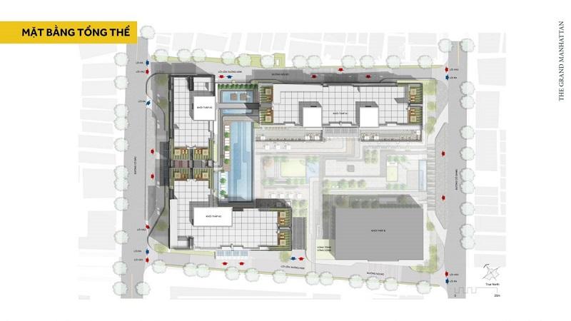 Mặt bằng dự án The Grand Manhattan Quận 1