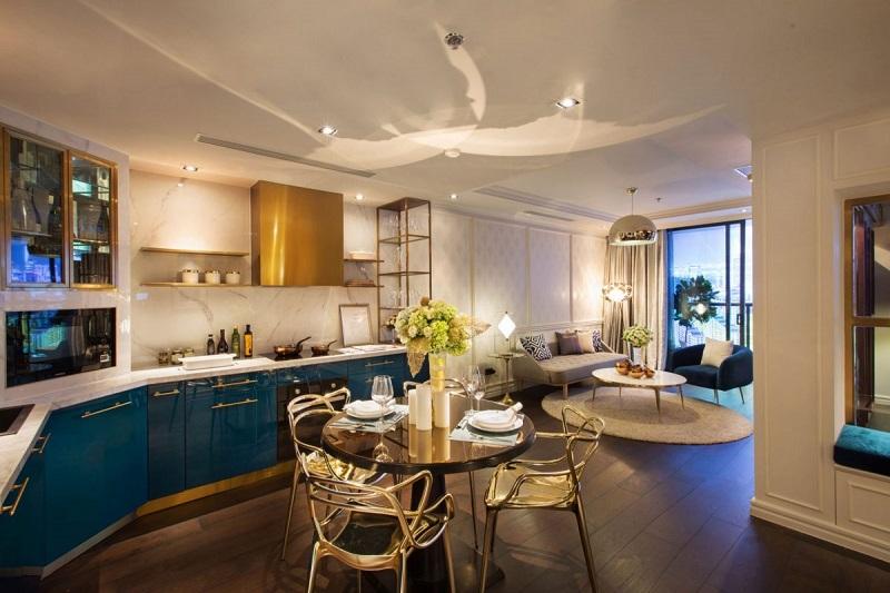Phòng bếp căn hộ mẫu The Grand Manhattan