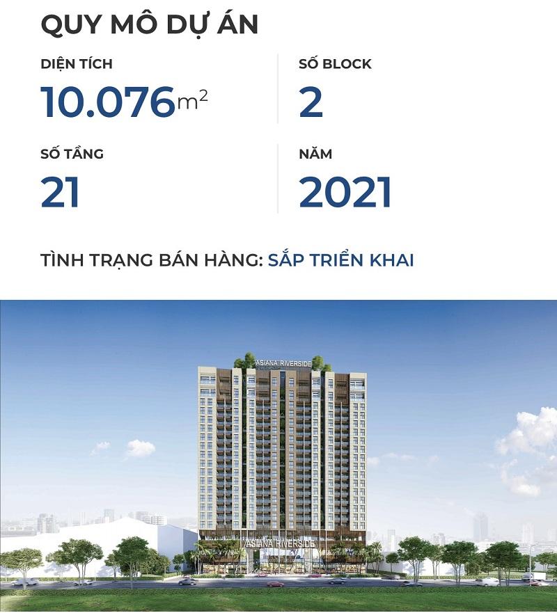 Quy mô dự án căn hộ Asiana Riverside Quận 7.
