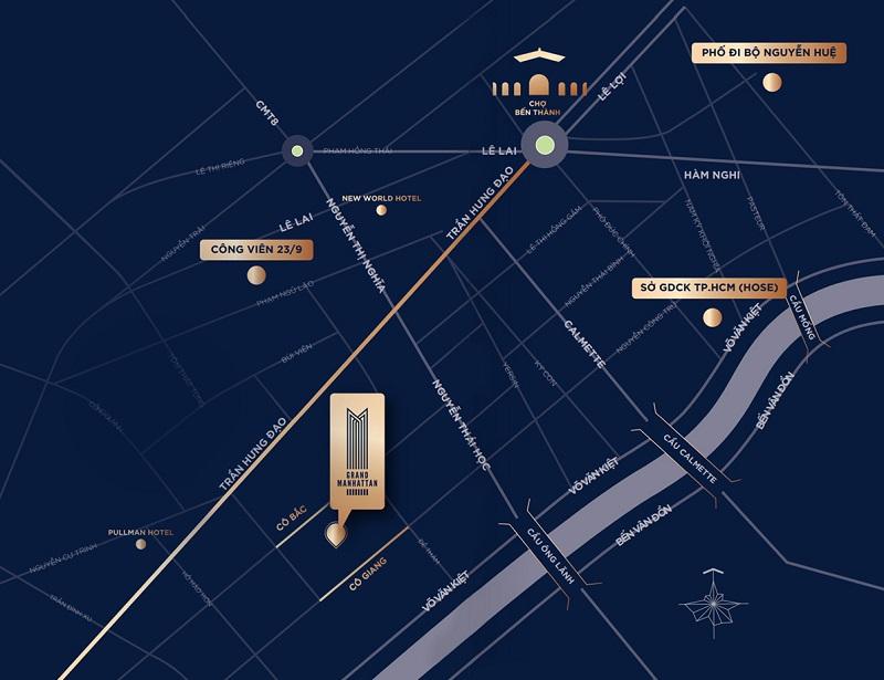 Vị trí dự án The Grand Manhattan Quận 1